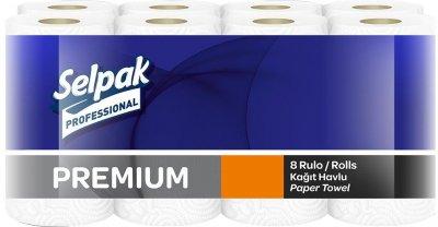 Паперовий кухонний рушник Selpak Professional Premium двошаровий 8 рулонів (32761210_8690530118218)