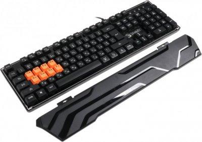 Клавіатура A4tech Bloody B3370R, USB Black Ігрова, 8-LK Libra Brown Switch RGB Keyboard, 8-LK клави