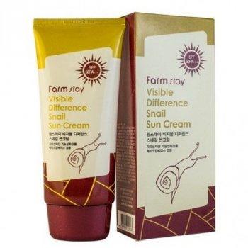 Крем Farmstay Visible Difference Snail Sun Cream улиточный солнцезащитный 70 мл