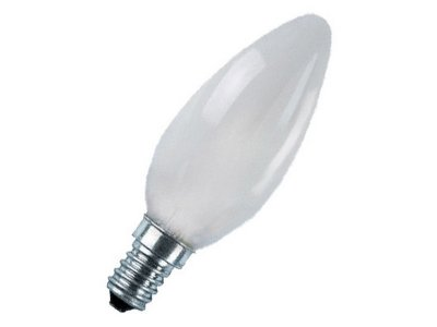 Лампа розжарювання свічка 60С1/F/E14 240V матова GE Угорщина