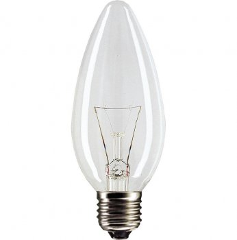 Лампа розжарювання свічка 60С1/CL/E14 240V прозора GE Угорщина