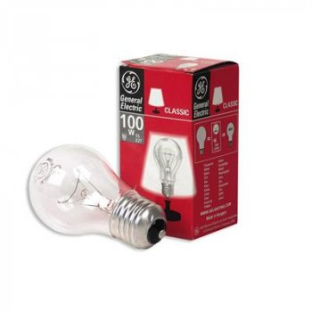 Лампа розжарювання 100А1/CL/E27 240V прозора GE Угорщина