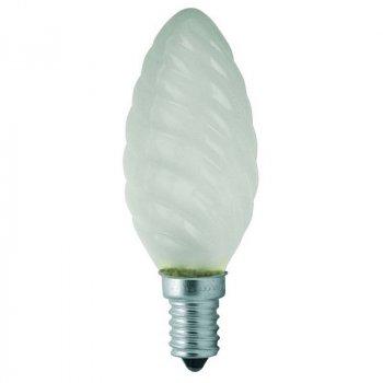 Лампа розжарювання свічка кручена (шишка) 40ТС1/F/E14 230V матова GE Угорщина