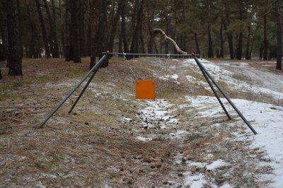 Стійка Середня з квадратним гонгом 200 мм Сателіт (650)