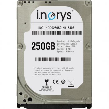 "Жорстку диск для ноутбука 2.5"" 250GB i.norys (INO-IHDD0250S2-N1-5408)"