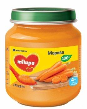 Овочеве пюре Milupa 125 г Морква (1631)