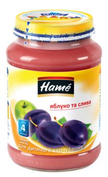 Фруктове пюре Hame яблуко і зливу 190 г (23600161760101)