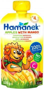 Пюре Hamanek Pouch яблуко і манго 120 г (26521391757083)