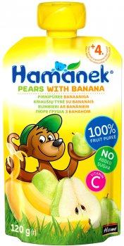 Пюре Hamanek Pouch груша і банан 120 г (26520801757083)