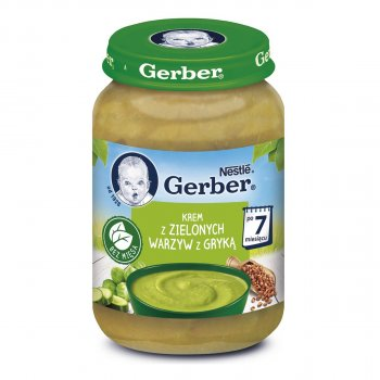 Суп-пюре Gerber з зеленими овочами і гречкою 190 г (12401448)