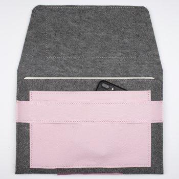 Чохол для ноутбука Empire Leather Craft Універсальний 13.3 - 14.1 inch (GTR-Rose) Рожевий