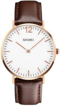 Мужские часы Skmei 1181BOXLRGBN Rose Gold Case Brown Leather BOX