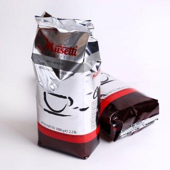 Кава в зернах Caffe Musetti Арабіка 100% 1 кг