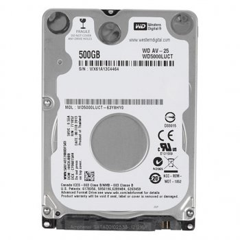 "Жорстку диск для ноутбука 2.5"" 500GB Western Digital (# WD5000LUCT-FR#)"