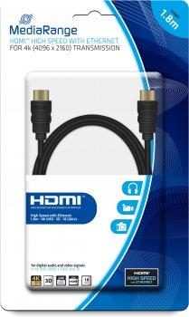 Кабель MediaRange HDMI 2.0 с Ethernet 1.8 м (MRCS156)