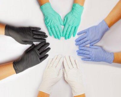 Одноразові рукавички нітрилові Igar 200 шт в упаковці Розмір L Чорні