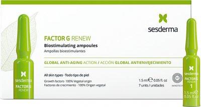 Омолоджуючі біостимулюючі ампули SesDerma Factor G Renew для всіх типів шкіри 7х 1,5 мл (8429979448378)
