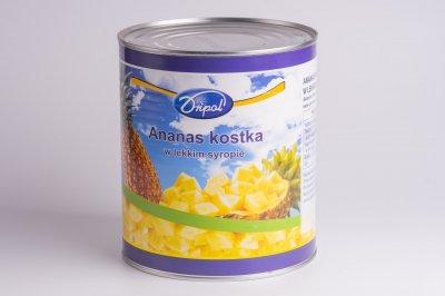 Ананас кусочками в собственном соку Dripol ж/б 3,05 кг