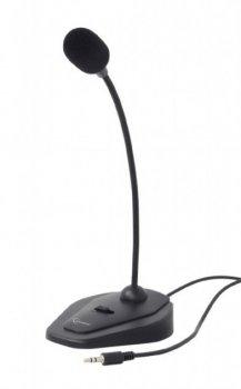 Микрофон настольный проводной Gembird MIC-D-01 black