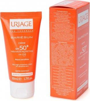 Солнезащитный крем для лица Uriage Bariésun Crème SPF 50+ Водостойкий без ароматизаторов 50 мл (3661434001376)