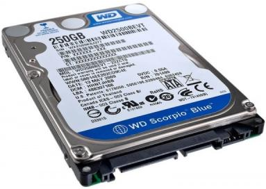 "Жорсткий диск Western Digital 250ГБ 5400об/м 8МБ 2.5"" SATA II (WD2500BEVT) Refurbished"