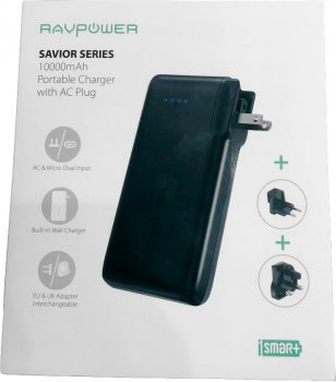 УМБ RAVPower 10050mAh Portable Charger with AC Plug Black (RP-PB066)