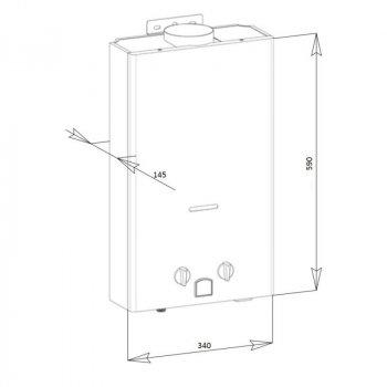 Колонка газовая дымоходная Aquatronic JSD20-A08 10 л белая