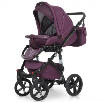 Детская универсальная коляска 2 в 1 Riko Brano Natural 03 Purple