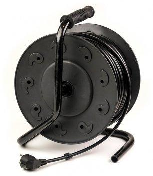 Подовжувач на котушці PowerPlant 50 м, 3x2.5мм2, 16А, 4 розетки, морозостойкий (JY-2002/50) (PPRA16M50S4L)