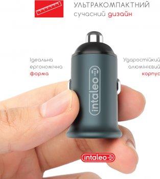 Автомобильное зарядное устройство Intaleo CCGQPD120T Серый (1283126509957)