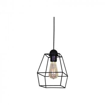 Подвесной светильник Лофт Skarla Проволока Черный Минимализм d - 170 mm (LS 1203-1G)