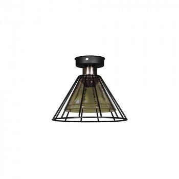 Потолочный светильник Лофт Skarlat Стекло в Проволоке Медовый d - 225 mm (LS 1209-1G)