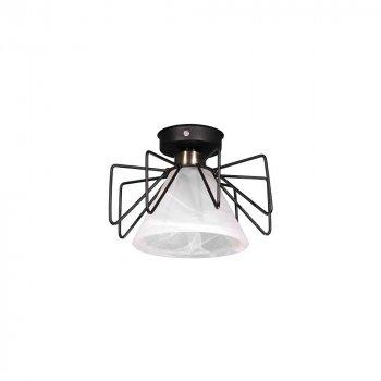 Потолочный светильник Лофт Skarlat Стекло Белое d - 230 mm (LS 1211-1G)