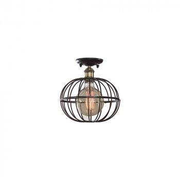 Потолочная светильник Лофт Skarlat Проволока Сфера Черный d - 260 mm (LS 1217-1G)
