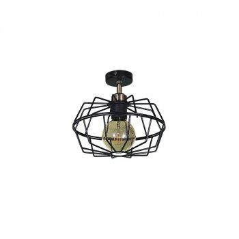 Потолочный светильник Лофт Skarlat Проволока фигурная Черный d - 260 mm (LS 1218-1G)