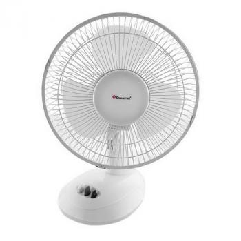 Вентилятор підлоговий Domotec MS-1624 LUX Лопостной компактний з автоповоротом 2 режими обдуву для будинку Білий