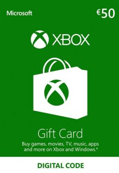 Подарункова карта Xbox Live / Gift Card поповнення гаманця (рахунки) свого аккаунта на суму 50 euro, EU-регіон