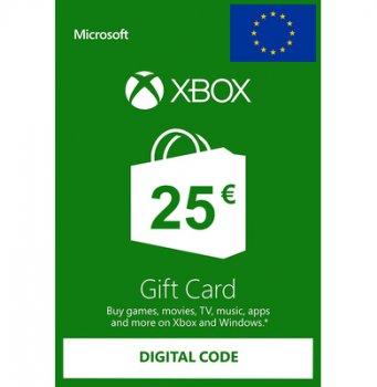 Подарункова карта Xbox Live / Gift Card поповнення гаманця (рахунки) свого аккаунта на суму 25 euro, EU-регіон