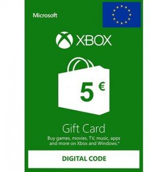 Подарункова карта Xbox Live / Gift Card поповнення гаманця (рахунки) свого аккаунта на суму 5 euro, EU-регіон