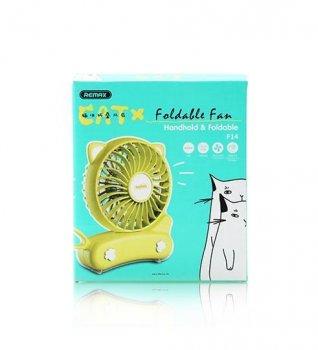 Вентилятор Remax Cat Folded Mini Fan F14 Yellow
