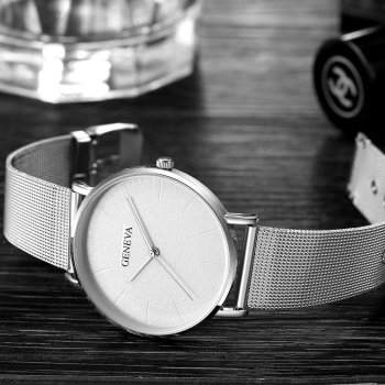 Кварцові годинники Quartz Geneva White Silver