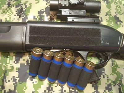 СайдСеддл (SideSaddle) BML – патронташ на ствольну коробку для дробовика 12 калібру з м'яких матеріалів (тканина) - на 4,5,6,7 або 8 патронів (на вибір клієнта) (77771)