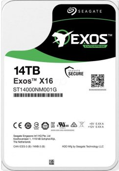 "Накопичувач HDD 3.5"" SATA 14.0 TB Seagate Exos X16 7200rpm 256MB (ST14000NM001G)"