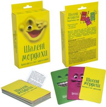 Карткова гра Strateg Шалені мордахи (українська мова) (4820220562180)