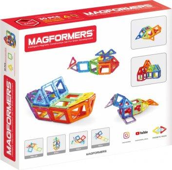 Конструктор магнитный Magformers Базовый набор 30 деталей (701005) (8809134360019)