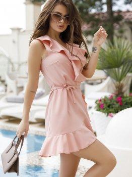 Плаття ISSA PLUS 11655 Рожеве