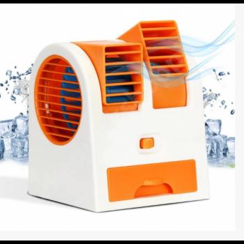 Мини-кондиционер Дорожный Портативный Mini Fan Conditioning Air Cooler Original USB Оранжевый