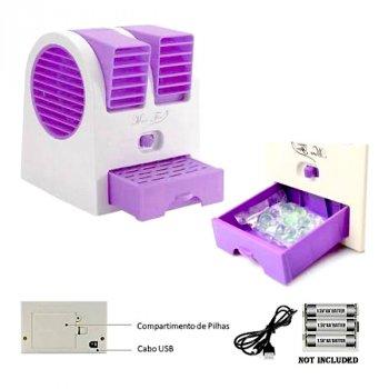 Мини-кондиционер Дорожный Портативный Mini Fan Conditioning Air Cooler Original USB Фиолетовый