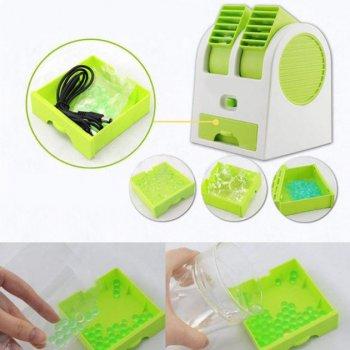 Мини-кондиционер Дорожный Портативный Mini Fan Conditioning Air Cooler Original USB Зеленый
