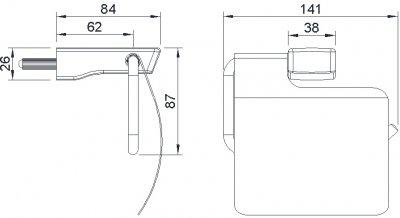 Тримач для туалетного паперу IMPRESE Grafiky ZMK041807220